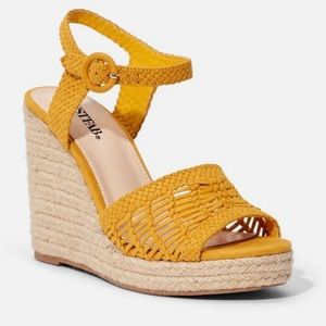 Just Fab Espadrille Wedge Sandals Like New